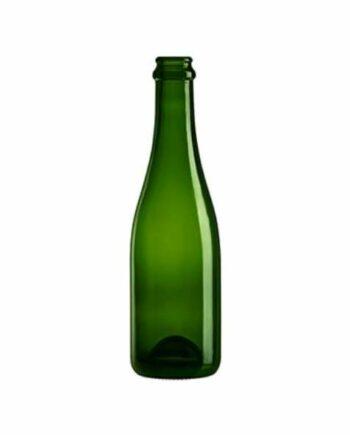 Glasflaska Champenoise i grön färg som rymmmer 375ml