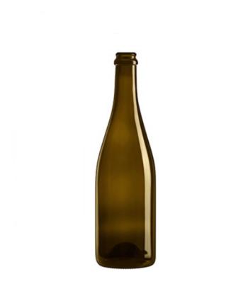 Glasflaska Champagne i brun färg som rymmmer 500ml