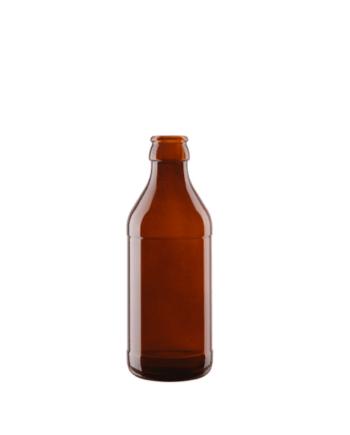Brun Glasflaska Euro Crown, 250 ml